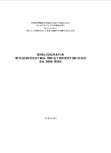 Bibliografia regionalna 2008