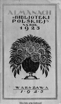 """Almanach """"Biblioteki Polskiej""""."""