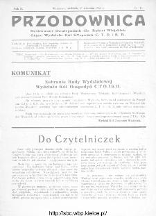 Przodownica : ilustrowany dwutygodnik dla kobiet wiejskich : organ Wydziału Kół Gospodyń C.T.O. i K.R 1931, nr 15