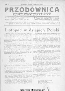 Przodownica : ilustrowany dwutygodnik dla kobiet wiejskich : organ Wydziału Kół Gospodyń C.T.O. i K.R 1932, nr 19