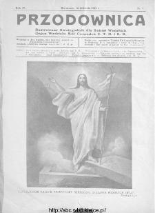 Przodownica : ilustrowany dwutygodnik dla kobiet wiejskich : organ Wydziału Kół Gospodyń C.T.O. i K.R 1933, nr 7
