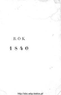 Kalendarzyk Polityczny na rok 1840 wydawany za upoważnieniem Rządu przez Fr. Radziszewskiego
