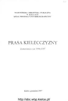 Prasa Kielecczyzny. Zestawienie z lat 1996-1997