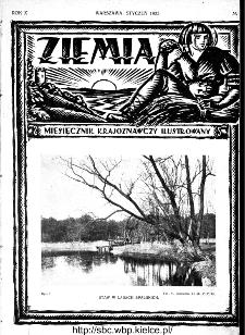 Ziemia : miesięcznik krajoznawczy ilustrowany 1925, R.X, nr 1