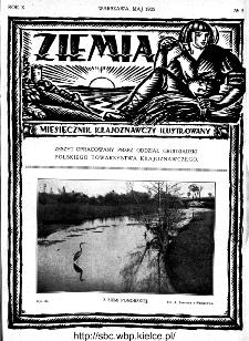 Ziemia : miesięcznik krajoznawczy ilustrowany 1925, R.X, nr 5