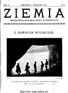 Ziemia : miesięcznik krajoznawczy ilustrowany 1925, R.X, nr 9