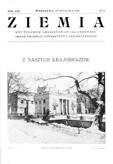 Ziemia : dwutygodnik krajoznawczy ilustrowany 1928, R.XIII, nr 2