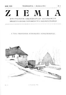 Ziemia : dwutygodnik krajoznawczy ilustrowany 1928, R.XIII, nr 5