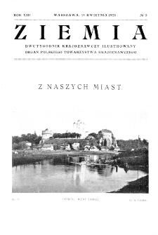 Ziemia : dwutygodnik krajoznawczy ilustrowany 1928, R.XIII, nr 8