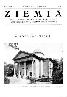 Ziemia : dwutygodnik krajoznawczy ilustrowany 1928, R.XIII, nr 10