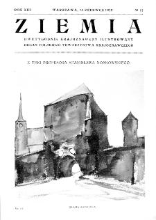 Ziemia : dwutygodnik krajoznawczy ilustrowany 1928, R.XIII, nr 12