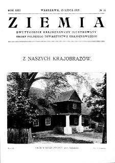 Ziemia : dwutygodnik krajoznawczy ilustrowany 1928, R.XIII, nr 14