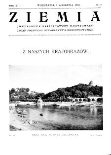 Ziemia : dwutygodnik krajoznawczy ilustrowany 1928, R.XIII, nr 17