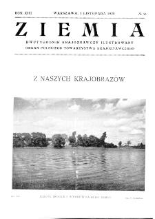 Ziemia : dwutygodnik krajoznawczy ilustrowany 1928, R.XIII, nr 21