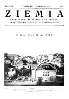 Ziemia : dwutygodnik krajoznawczy ilustrowany 1928, R.XIII, nr 22