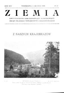 Ziemia : dwutygodnik krajoznawczy ilustrowany 1928, R.XIII, nr 23