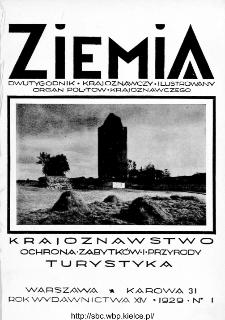 Ziemia : dwutygodnik krajoznawczy ilustrowany 1929, R.XIV, nr 1
