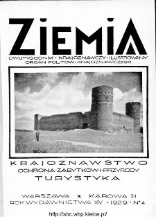 Ziemia : dwutygodnik krajoznawczy ilustrowany 1929, R.XIV, nr 4