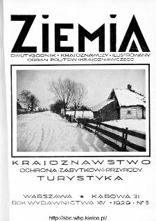 Ziemia : dwutygodnik krajoznawczy ilustrowany 1929, R.XIV, nr 5