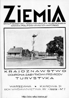 Ziemia : dwutygodnik krajoznawczy ilustrowany 1929, R.XIV, nr 7