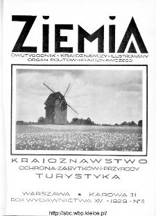 Ziemia : dwutygodnik krajoznawczy ilustrowany 1929, R.XIV, nr 8