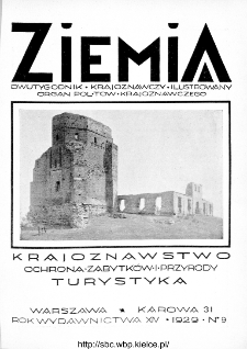 Ziemia : dwutygodnik krajoznawczy ilustrowany 1929, R.XIV, nr 9