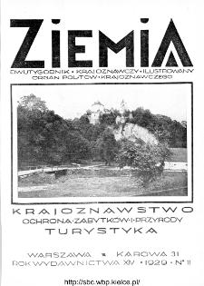 Ziemia : dwutygodnik krajoznawczy ilustrowany 1929, R.XIV, nr 11
