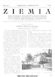 Ziemia : dwutygodnik krajoznawczy ilustrowany 1929, R.XIV, nr 12