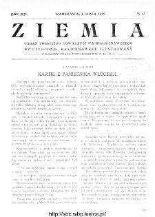Ziemia : dwutygodnik krajoznawczy ilustrowany 1929, R.XIV, nr 13