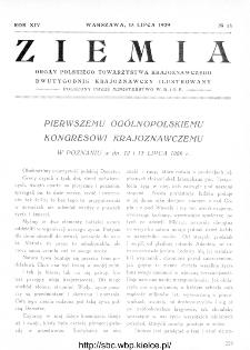 Ziemia : dwutygodnik krajoznawczy ilustrowany 1929, R.XIV, nr 14