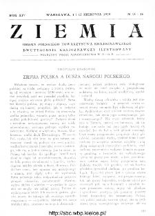 Ziemia : dwutygodnik krajoznawczy ilustrowany 1929, R.XIV, nr 15-16
