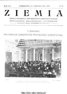 Ziemia : dwutygodnik krajoznawczy ilustrowany 1929, R.XIV, nr 20