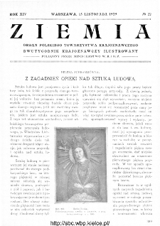 Ziemia : dwutygodnik krajoznawczy ilustrowany 1929, R.XIV, nr 22