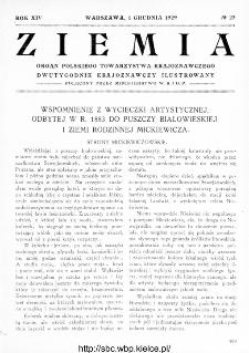Ziemia : dwutygodnik krajoznawczy ilustrowany 1929, R.XIV, nr 23