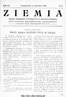 Ziemia : dwutygodnik krajoznawczy ilustrowany 1929, R.XIV, nr 24
