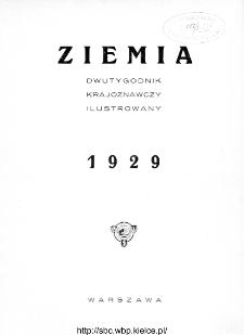 Treść Ziemi w roku 1929