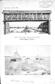 Ziemia : tygodnik krajoznawczy ilustrowany 1912, R.III, nr 9
