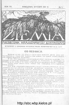 Ziemia : miesięcznik krajoznawczy ilustrowany 1922, R.VII, nr 1