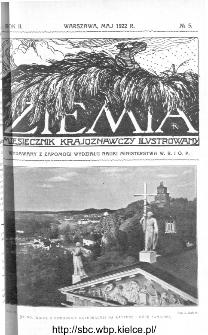 Ziemia : miesięcznik krajoznawczy ilustrowany 1922, R.VII, nr 5