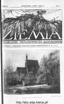 Ziemia : miesięcznik krajoznawczy ilustrowany 1922, R.VII, nr 7
