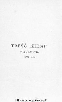 Treść Ziemi w roku 1922