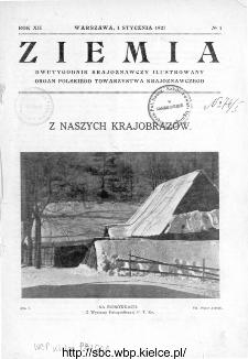 Ziemia : dwutygodnik krajoznawczy ilustrowany 1927, R.XII, nr 1