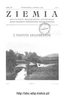 Ziemia : dwutygodnik krajoznawczy ilustrowany 1927, R.XII, nr 5