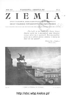 Ziemia : dwutygodnik krajoznawczy ilustrowany 1927, R.XII, nr 11