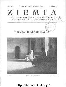 Ziemia : dwutygodnik krajoznawczy ilustrowany 1927, R.XII, nr 13-14