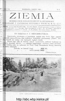 Ziemia : miesięcznik krajoznawczy ilustrowany 1923, R.VIII, nr 3