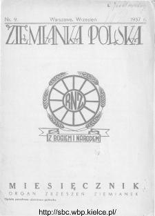 Ziemianka Polska : organ zrzeszeń ziemianek wszystkich ziem polskich 1937, nr 9