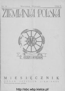 Ziemianka Polska : organ zrzeszeń ziemianek wszystkich ziem polskich 1938, nr 9