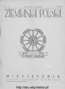 Ziemianka Polska : organ zrzeszeń ziemianek wszystkich ziem polskich 1938, nr 11