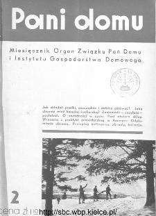 Pani Domu : miesięcznik poświęcony organizacji gospodarstwa domowego : organ Instytutu Gospodarstwa Domowego : organ Związku Pań Domu, 1935, nr 2